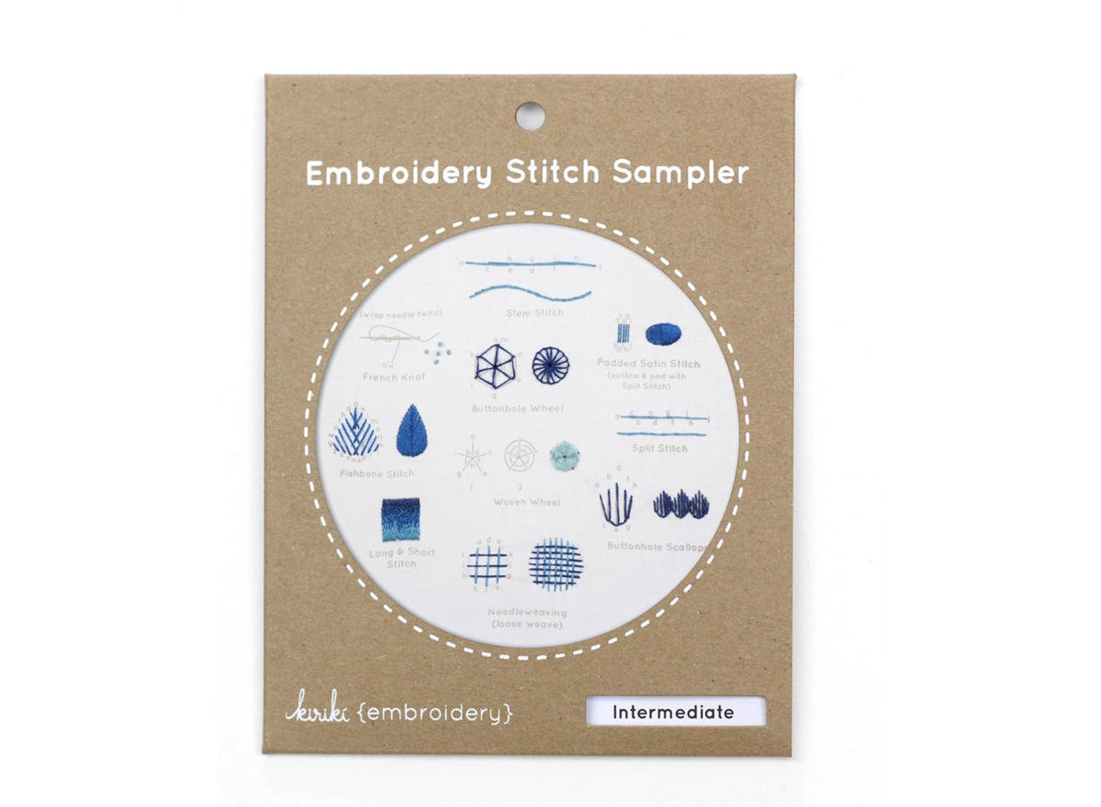 Kiriki Press, Embroidery Stitch Sampler, Intermediate