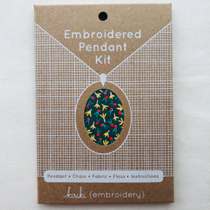 Kiriki Press, Embroidered Pendant Kit, Fruity