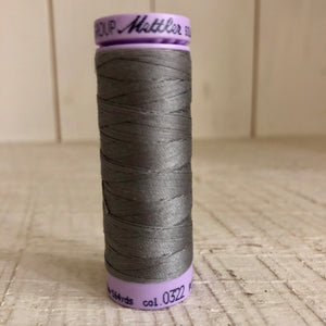 Mettler Silk Finish Cotton Thread, Rain Cloud 0322, 150 meter Spool