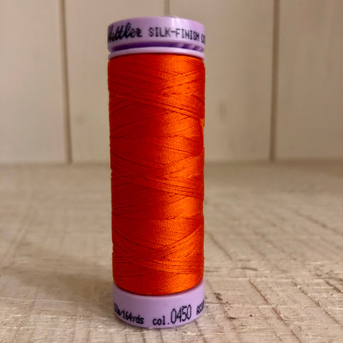 Mettler Silk Finish Cotton Thread, Paprika 0450, 150 meter Spool