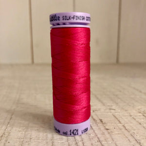 Mettler Silk Finish Cotton Thread, Fuschia 1421, 150 meter Spool