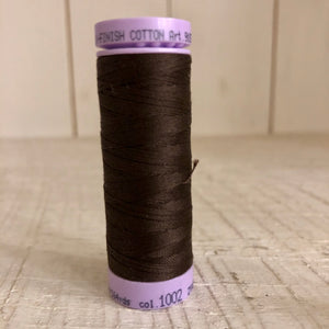 Mettler Silk Finish Cotton Thread, Dark Brown 1002, 150 meter Spool