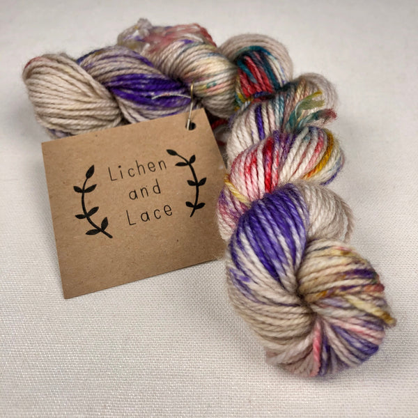 80/20 Sock Mini Yarn, Pressed Flower, Lichen and Lace