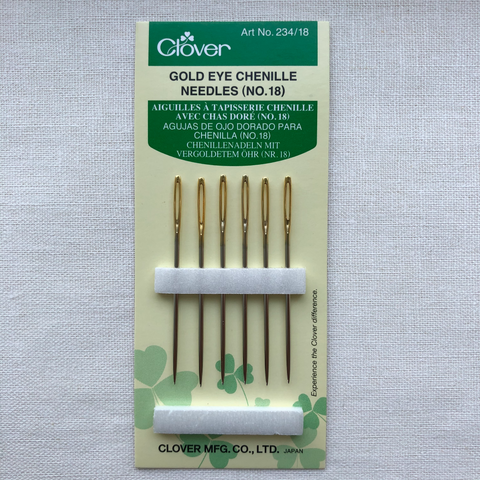 Clover Gold Eye Chenille Needles No. 18