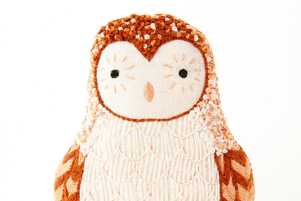 Kiriki Press, Embroidered Doll Starter Kit, Barn Owl