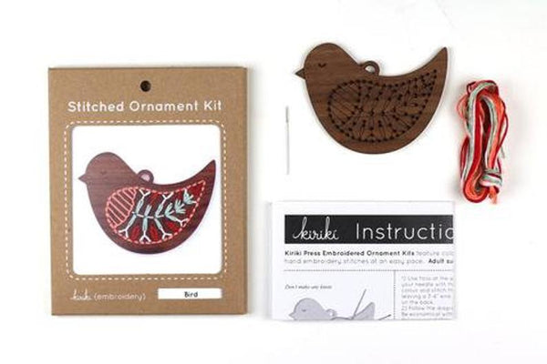 Kiriki Press, Stitched Ornament Kit, Bird