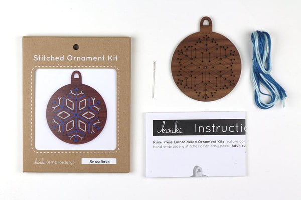 Kiriki Press, Stitched Ornament Kit, Snowflake