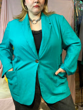 Load image into Gallery viewer, 80s Teal Blazer (2XL)