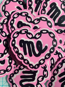 """ME"" Heart Chain Sticker"