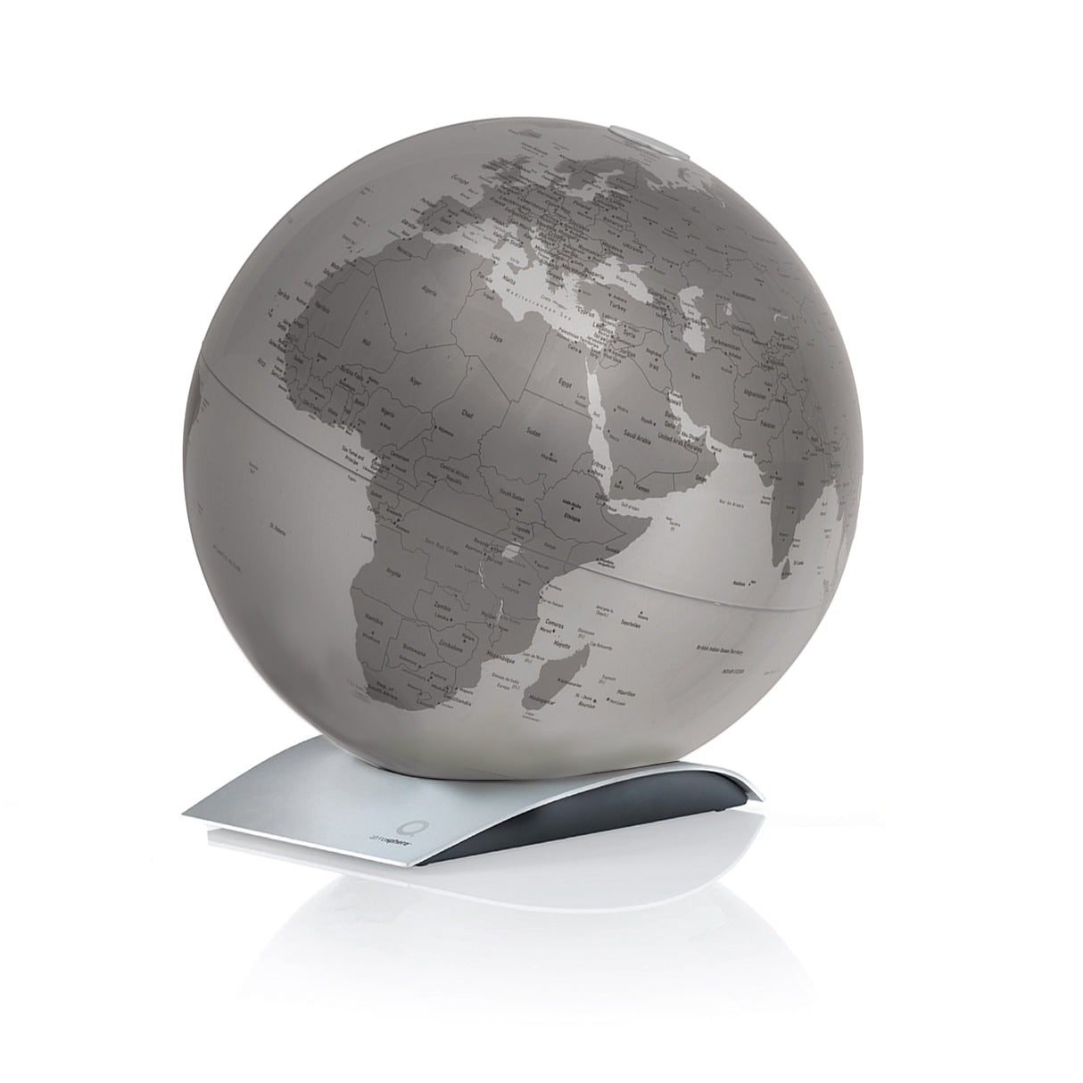 mappamondo - Capital Q Silver - yourglobestore