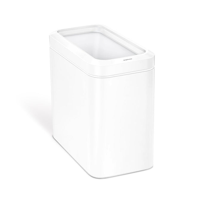 25L slim open can - white finish - main image