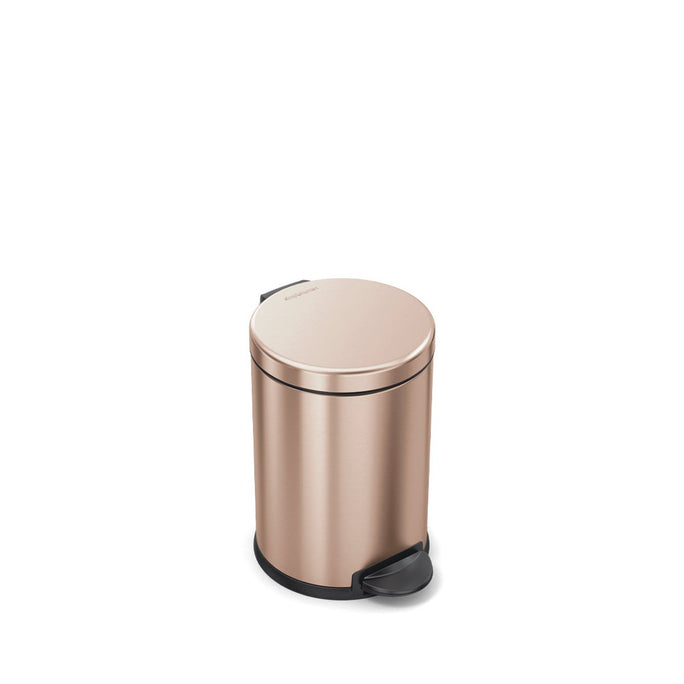 4.5L round step can - rose gold finish - front view main image