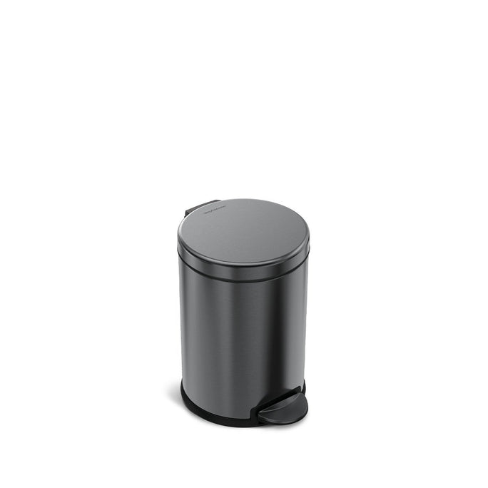 4.5L round step can - black finish - front view main image