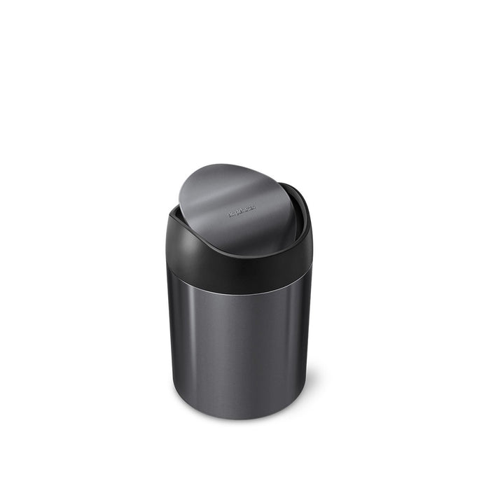mini can - black stainless steel w/ black trim - main image