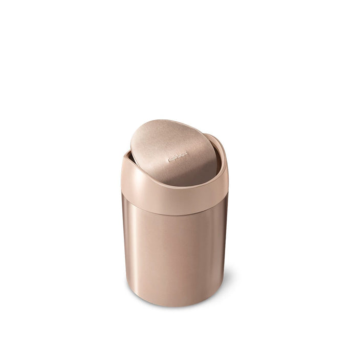 mini can - rose gold stainless steel w/ pink trim - main image