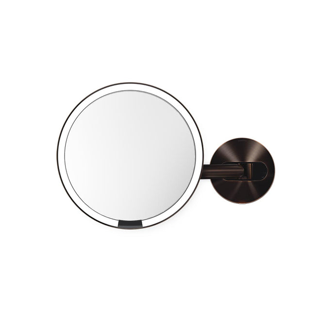 hard-wired wall mount sensor mirror - dark bronze finish - main image