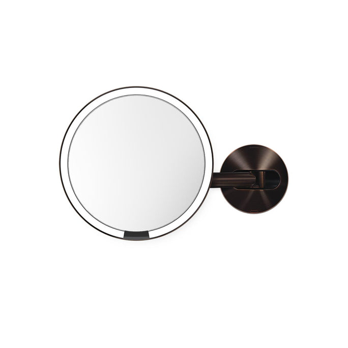rechargeable wall mount sensor mirror - dark bronze finish - main image