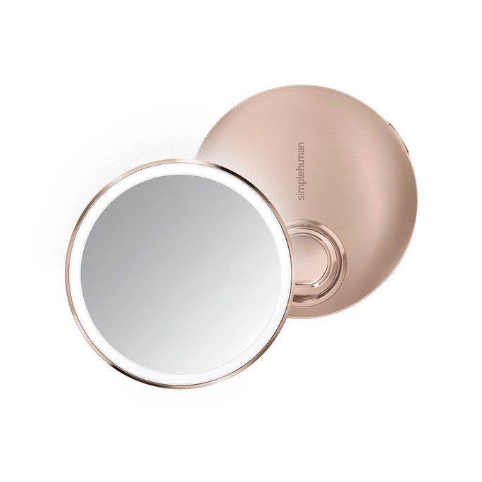 sensor mirror compact 10x - rose gold finish - main image