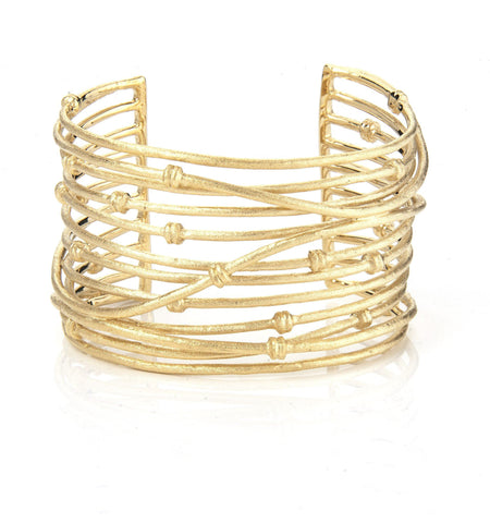 Mina Cuff - Available in Yellow Gold, Rose Gold + Rhodium Clad