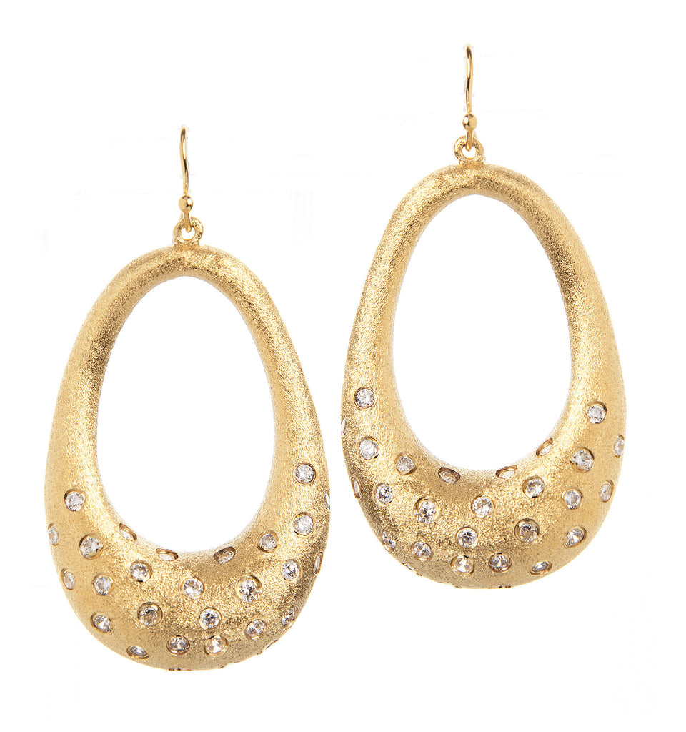 Simulated Diamond Dangle Earrings