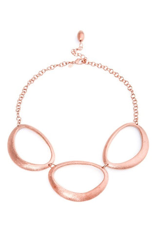 Rose Gold Organic Oval Necklace