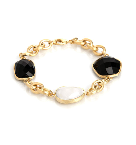 Onyx + Mother of Pearl Bracelet