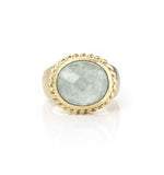 Caribbean Blue Quartzite East West Ring