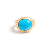 Magnesite Oval East West Twisted Bezel Ring