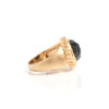 Onyx Oval East West Twisted Bezel Ring