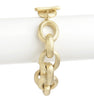Satin Rolo Link Toggle Bracelet - 7.5""