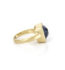 Poppy Blue Crystal Square Satin Stack Ring
