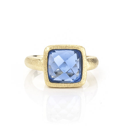 Poppy Blue Doublet Stack Ring