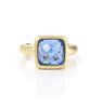 Poppy Blue Crystal Square Stack Ring