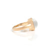 White Cat's Eye Square Satin Stack Ring