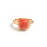 Coral Square Stack Ring