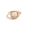 Rutilated Square Stack Ring