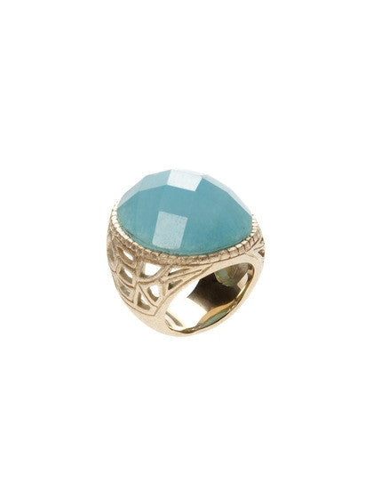 Quartzite Oval Cocktail Ring