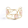 Rose Quartz Satin Cuff Bracelet