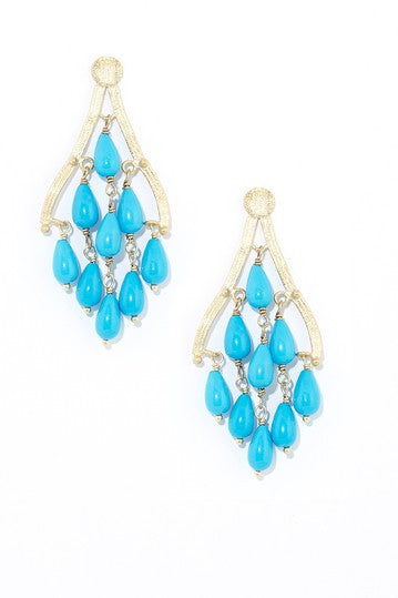 Magnesite Chandelier Earrings