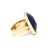 Navy Blue Cat's Eye Cocktail Ring