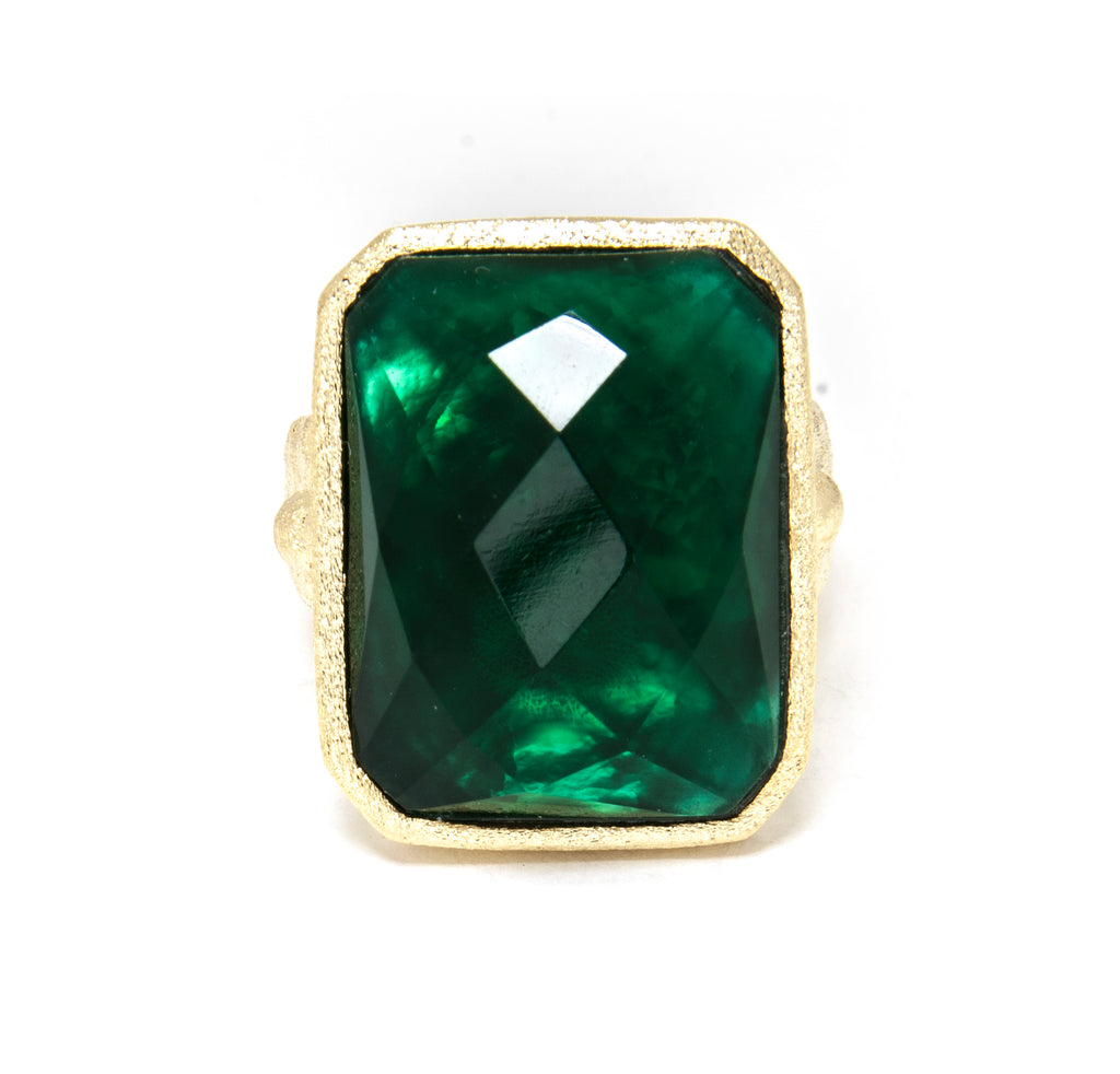 Emerald Doublet Cocktail Ring