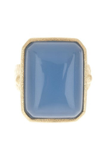 Chalcedony Cocktail Ring Size 8 - Closeout