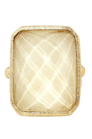 Calcite Cocktail Ring Size 7 - Closeout