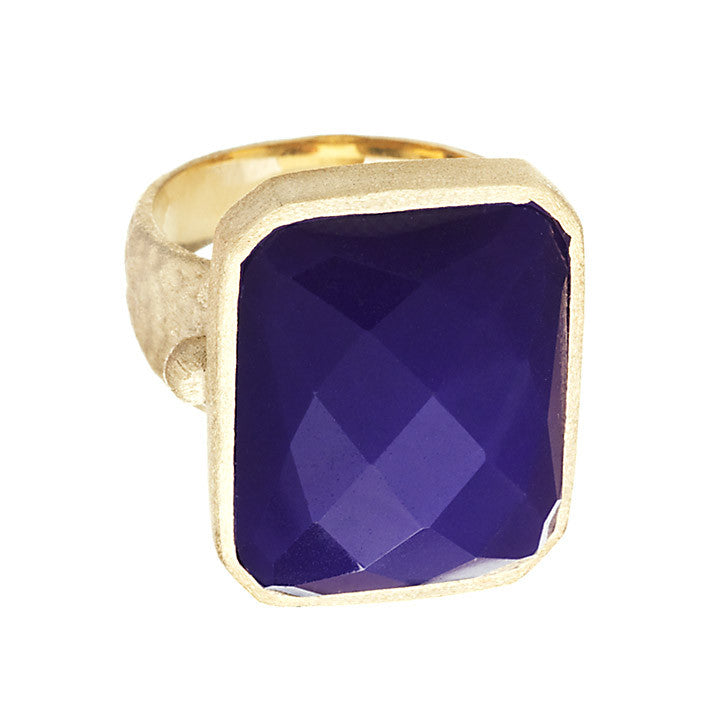 Purple Quartzite Cocktail Ring Size 10 - Closeout