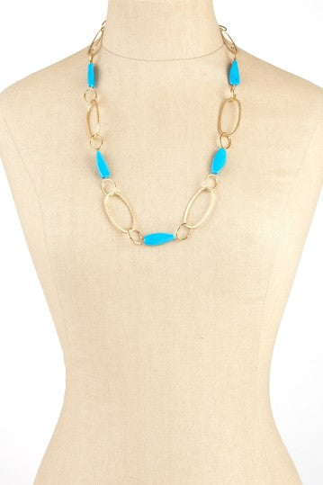 Magnesite Station Link Necklace - Closeout