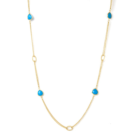 Magnesite 2 Row Cable Link Station Necklace