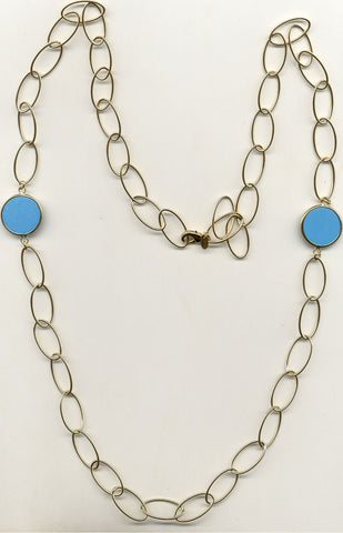 Magnesite Station Necklace - Closeout