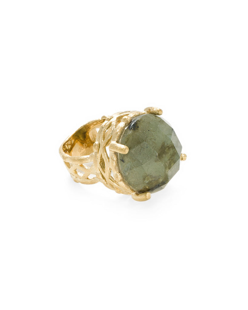 Lattice Labradorite Ring