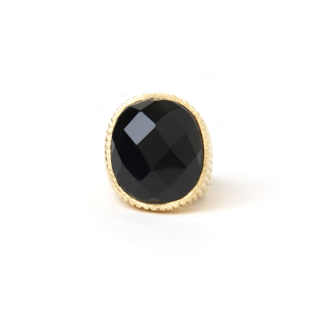 Onyx Oval Cocktail Ring