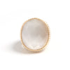 White Cat's Eye Oval Cocktail Ring